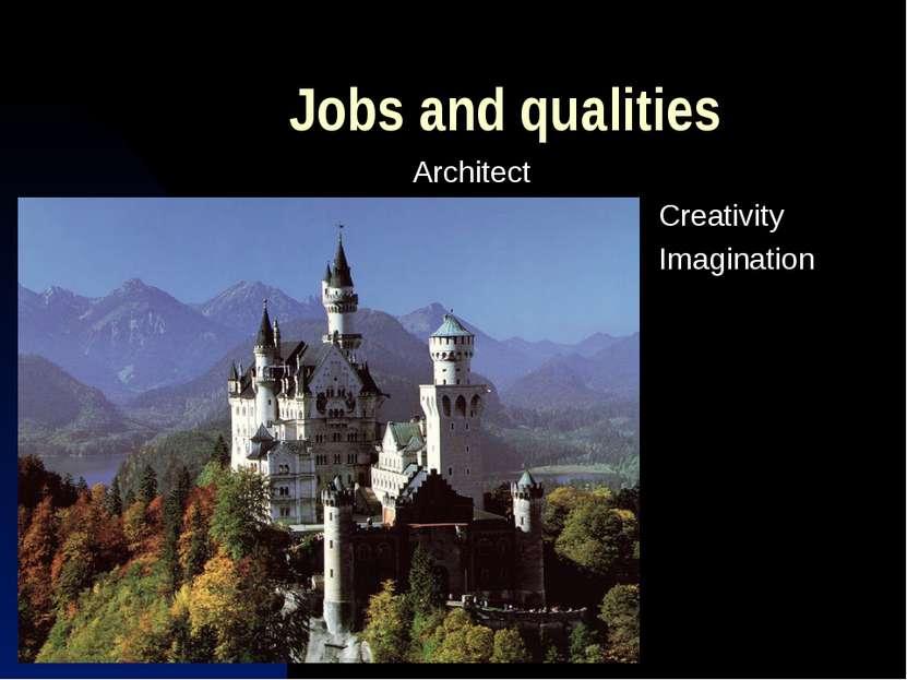 Jobs and qualities Architect Creativity Imagination
