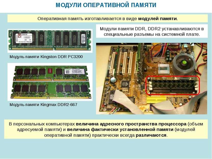 МОДУЛИ ОПЕРАТИВНОЙ ПАМЯТИ Модуль памяти Kingmax DDR2-667 Модуль памяти Kingst...