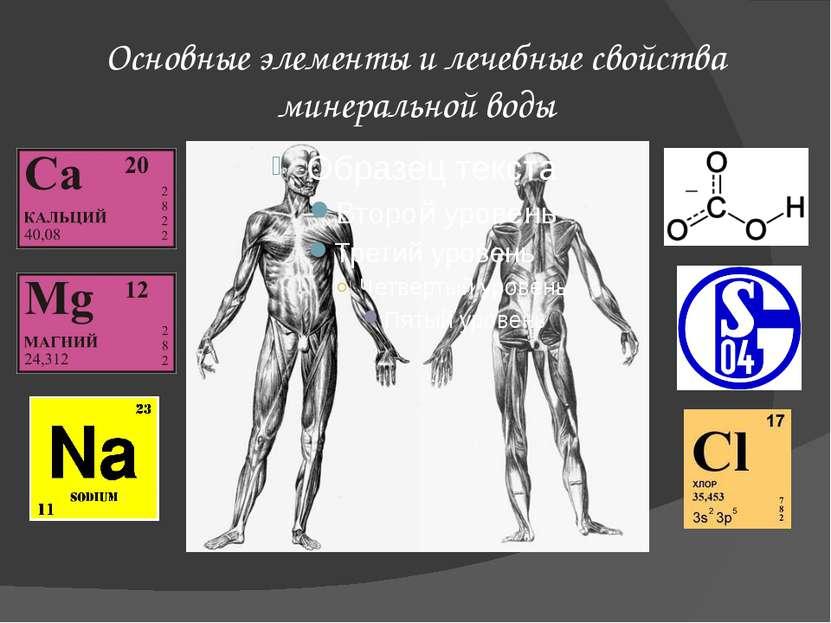 Основные элементы и лечебные свойства минеральной воды