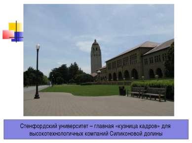 Стенфордский университет – главная «кузница кадров» для высокотехнологичных к...