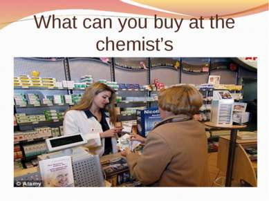 What can you buy at the chemist's