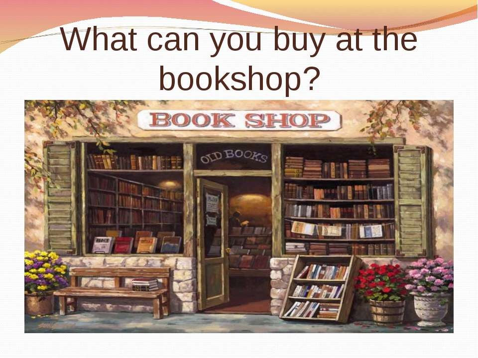 What can you buy at the bookshop?