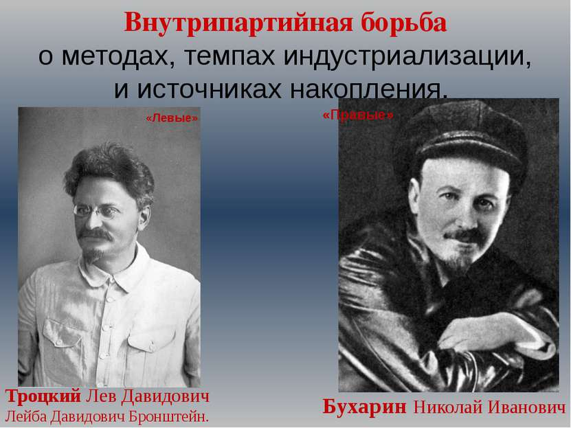 Внутрипартийная борьба о методах, темпах индустриализации, и источниках накоп...