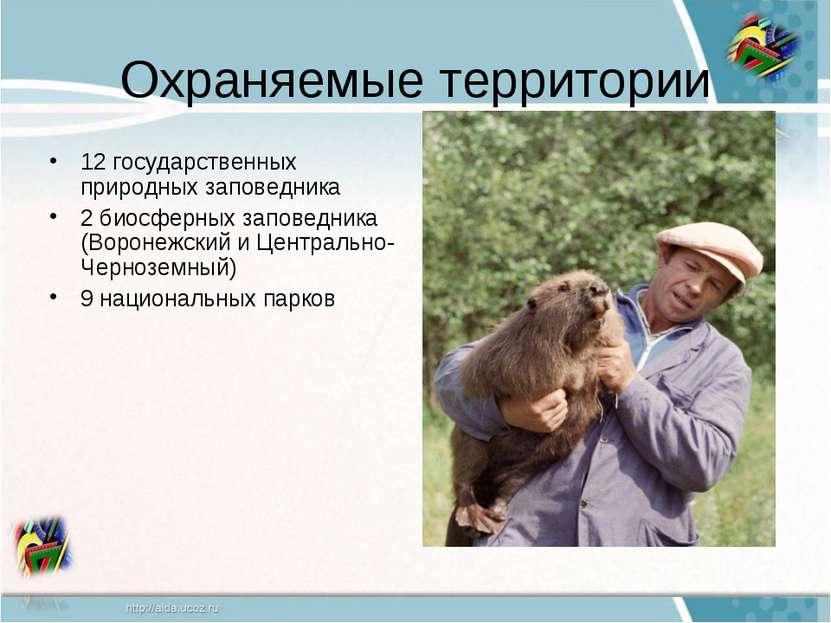 Охраняемые территории 12 государственных природных заповедника 2 биосферных з...