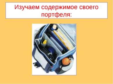 Изучаем содержимое своего портфеля: