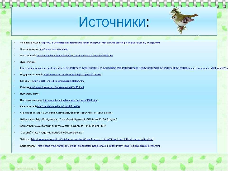 Источники: Фон презентации- http://900igr.net/fotografii/literatura/Gabdulla-...