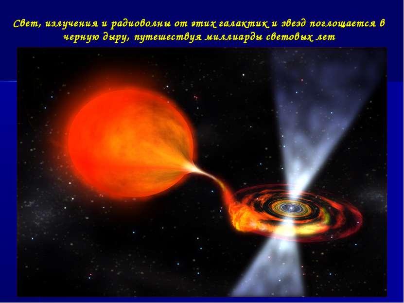 Свет, излучения и радиоволны от этих галактик и звезд поглощается в черную ды...