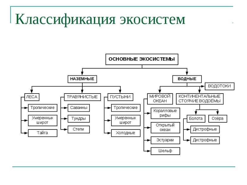 Классификация экосистем