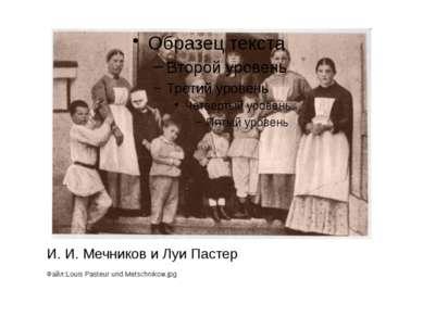 И. И. Мечников и Луи Пастер Файл:Louis Pasteur und Metschnikow.jpg
