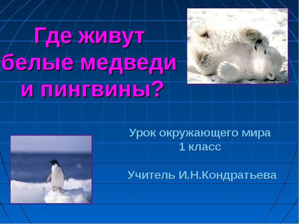 Где живут белые медведи и пингвины? Урок окружающего мира 1 класс Учитель И.Н...