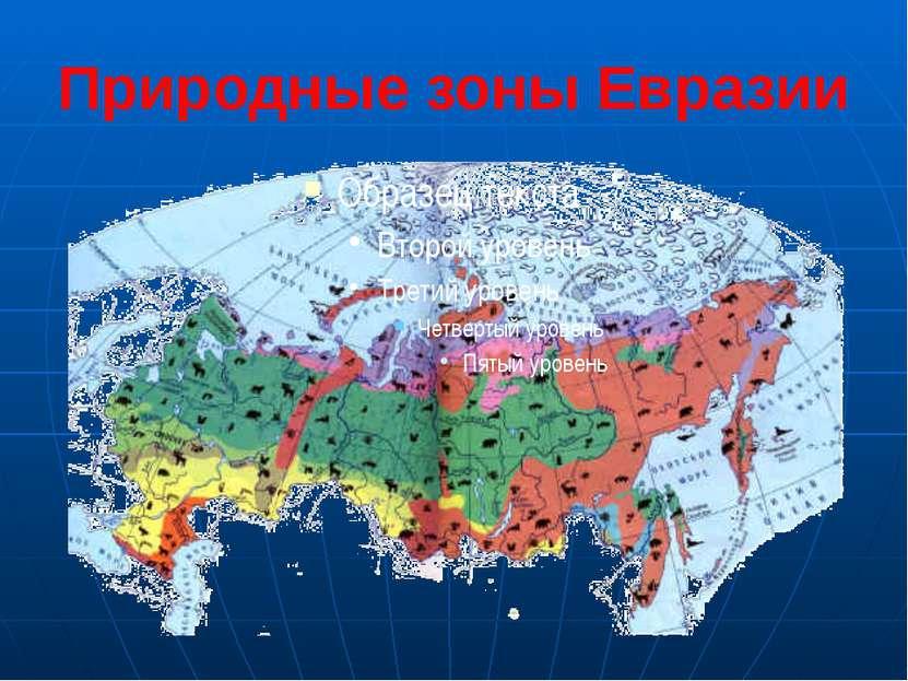 Природные зоны Евразии Природа России очень разнообразна. В направлении с сев...
