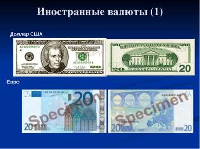 Глава 5. Экономика мира 33. Обменные курсы валют Иностранные валюты (1) Долла...