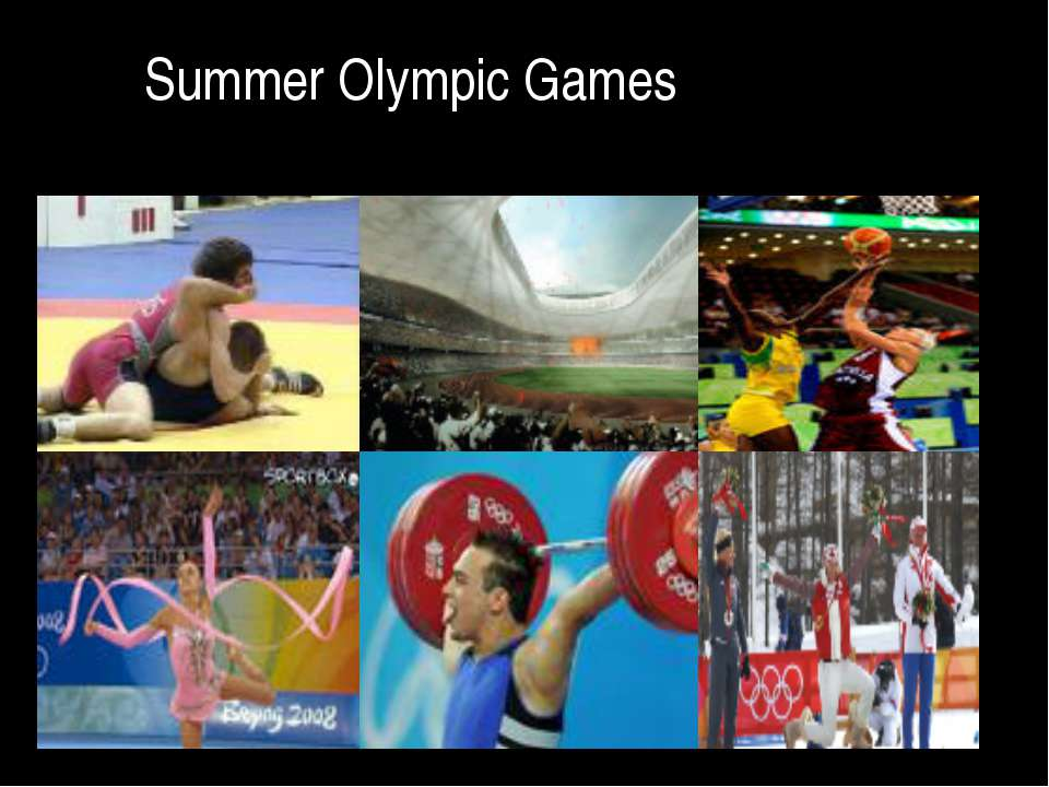 summer olympic games and sports