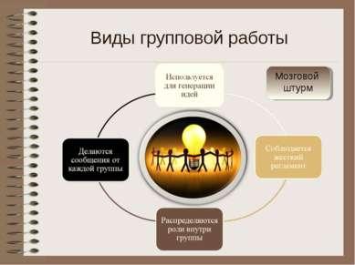 Мозговой штурм Виды групповой работы