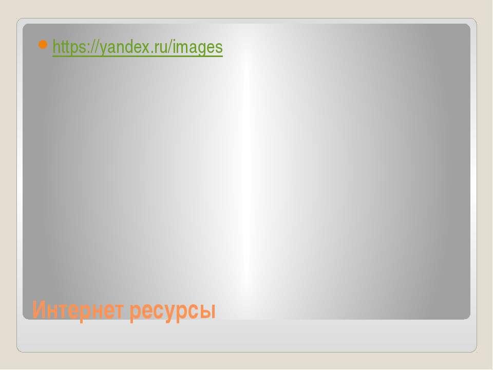 Интернет ресурсы https://yandex.ru/images