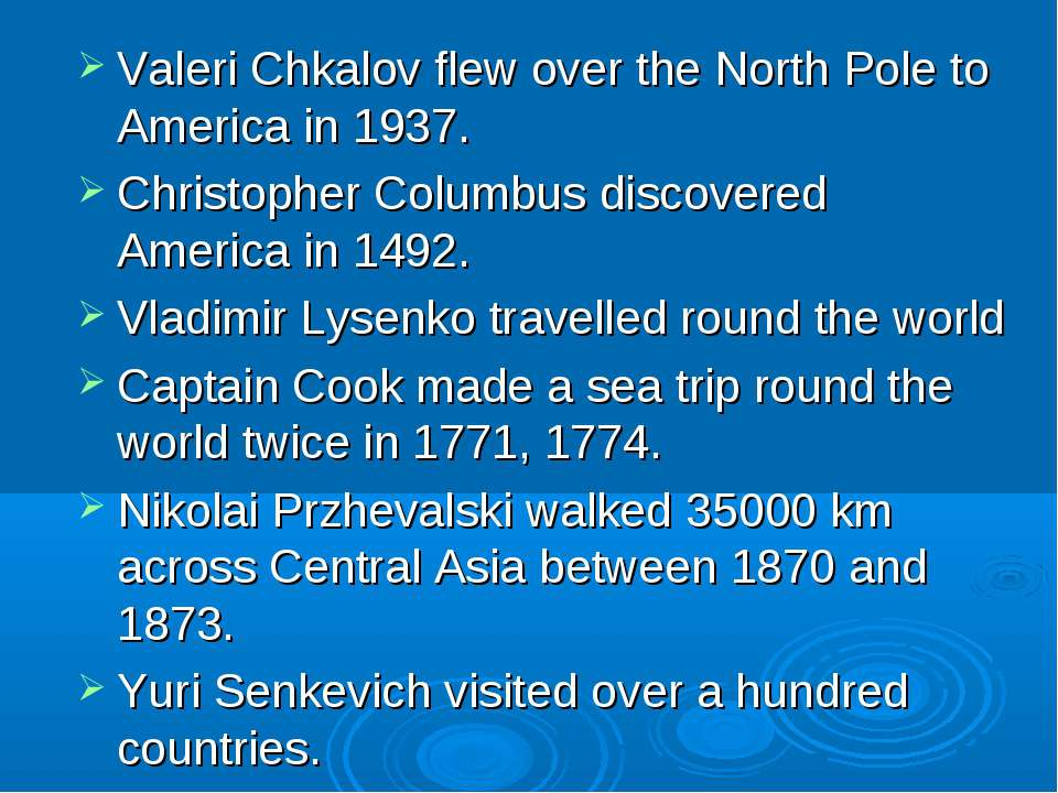 Valeri Chkalov flew over the North Pole to America in 1937. Christopher Colum...