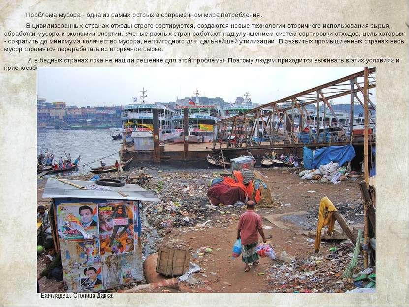 Проблема мусора - одна из самых острых в современном мире потребления. В циви...