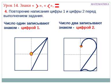 4. Повторение написания цифры 1 и цифры 2 перед выполнением задания. МАТЕМАТИ...