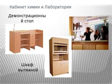 Кабинет химии и Лаборатория Демонстрационный стол Шкаф вытяжной