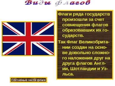 Флаги ряда государств произошли за счет совмещения флагов образовавших их го-...