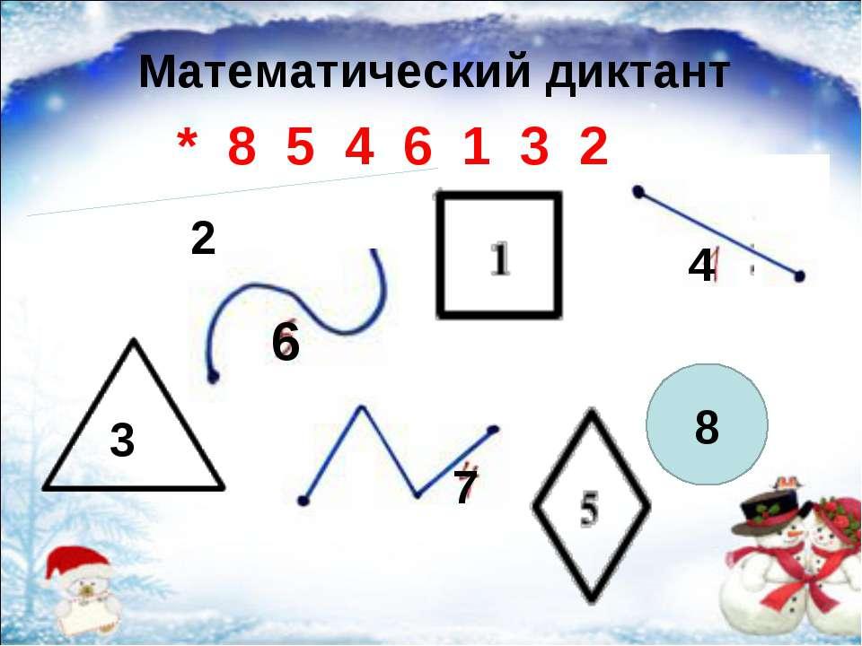 3 6 4 3 2 8 * 8 5 4 6 1 3 2 Математический диктант 7
