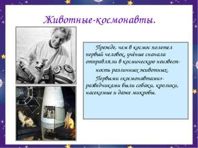 Животные-космонавты. Прежде, чем в космос полетел первый человек, учёные снач...