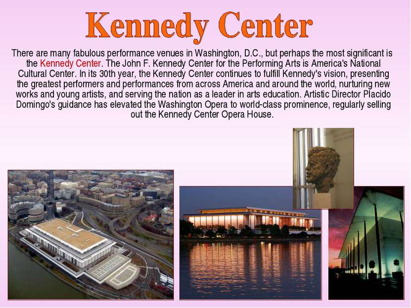 There are many fabulous performance venues in Washington, D.C., but perhaps t...