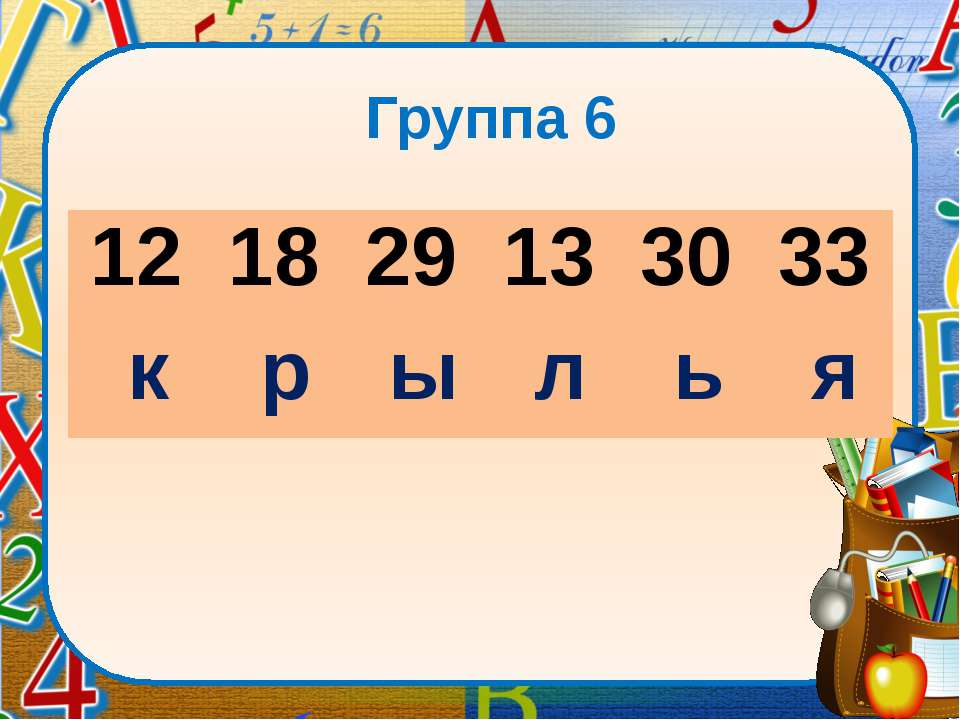 Группа 6 12 18 29 13 30 33 к р ы л ь я lick to edit Master subtitle sty...