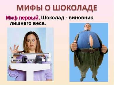 Миф первый. Шоколад- виновник лишнего веса.