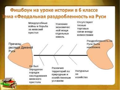 Причины распада Древней Руси Междоусобные войны и борьба за киевский престол ...
