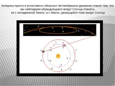 Коперник просто и естественно объяснил петлеобразное движение планет тем, что...