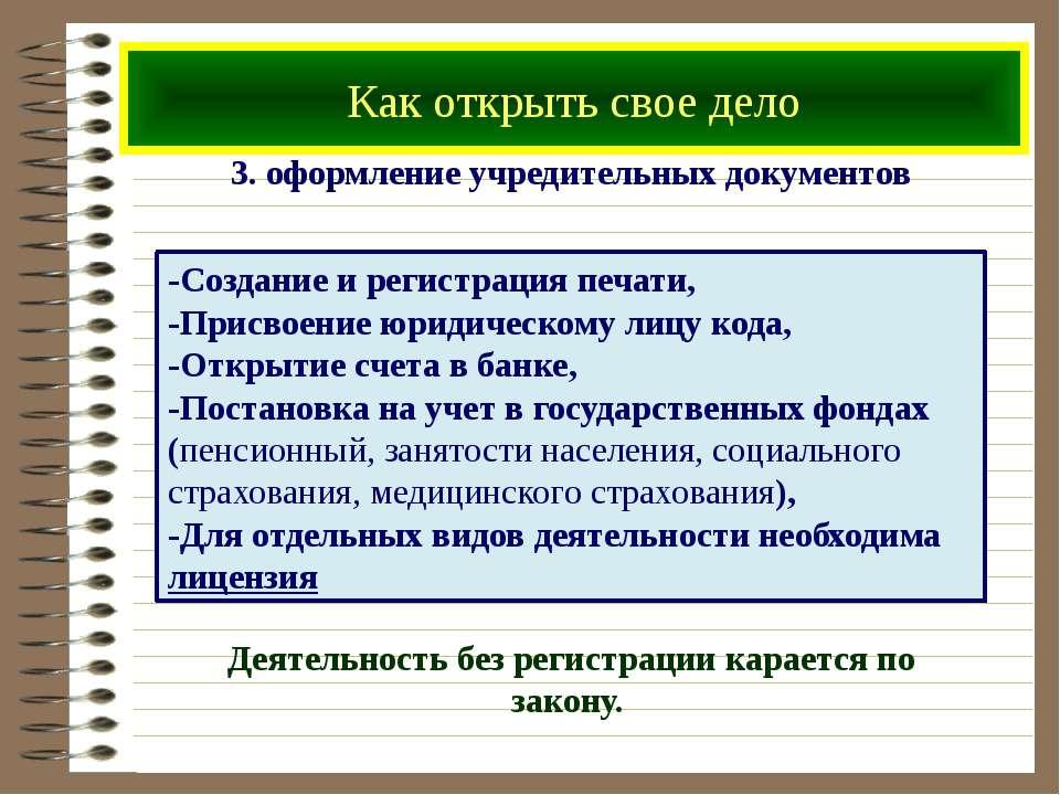 Как открыть свое дело 3. оформление учредительных документов -Создание и реги...