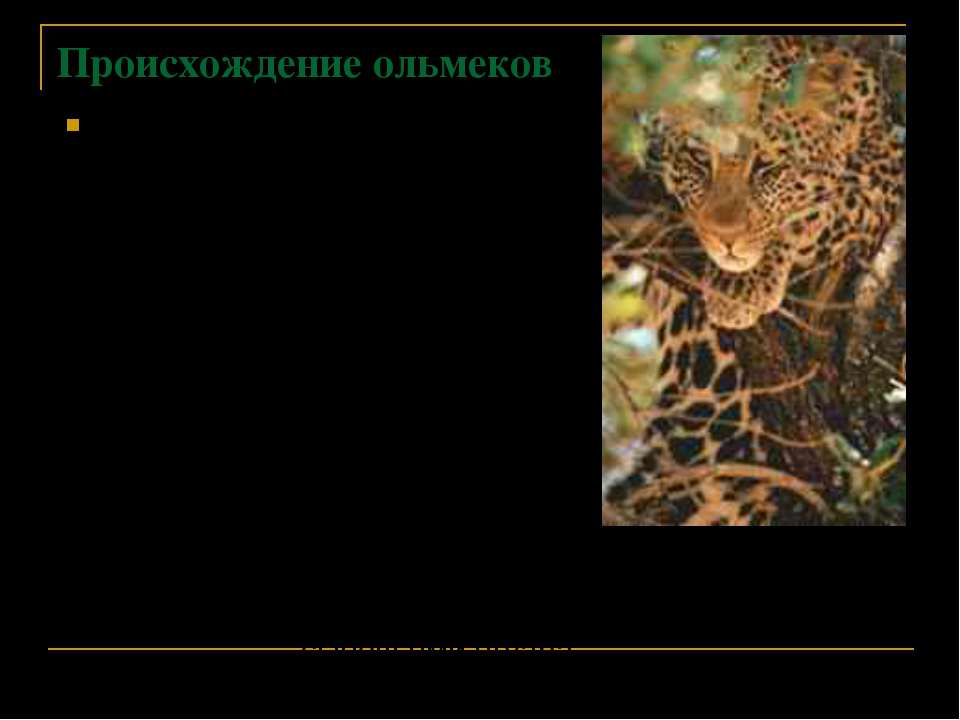 Происхождение ольмеков Древнейшее предание говорит о том, что таинственные пр...