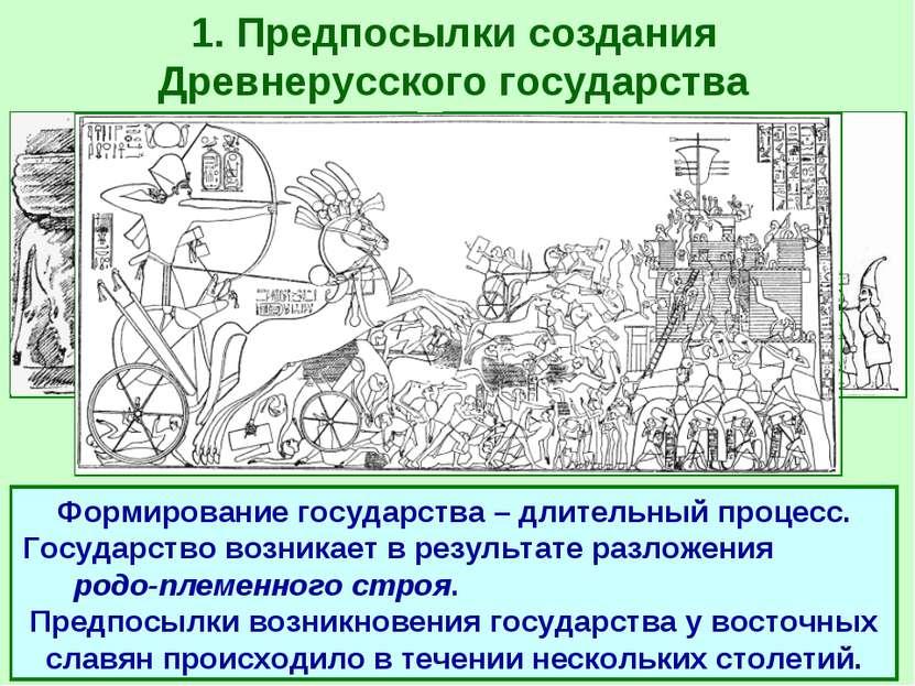 1. Предпосылки создания Древнерусского государства ГОСУДАРСТВО - такая органи...