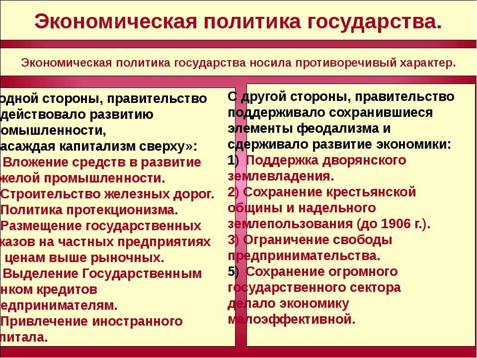 - - - Экономическая политика государства. Экономическая политика государства ...