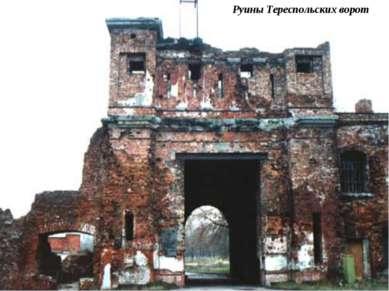 Руины Тереспольских ворот
