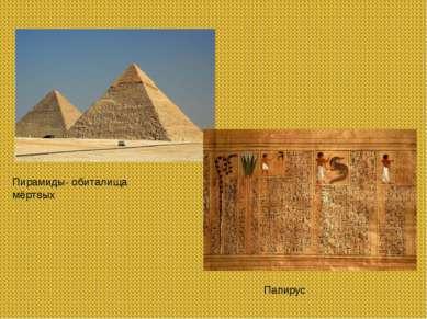 Пирамиды- обиталища мёртвых Папирус