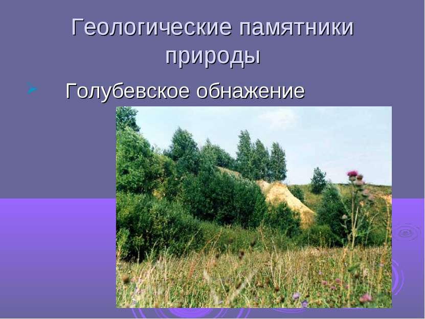 Геологические памятники природы Голубевское обнажение