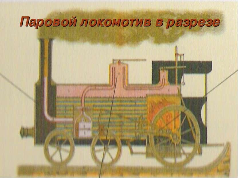 Паровой локомотив в разрезе