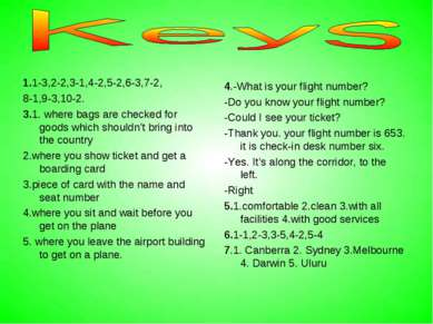 1.1-3,2-2,3-1,4-2,5-2,6-3,7-2, 8-1,9-3,10-2. 3.1. where bags are checked for ...