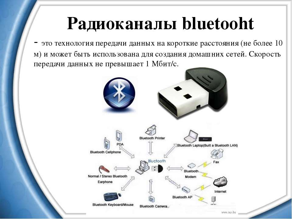 Радиоканалы bluetooht - это технология передачи данных на короткие расстояния...