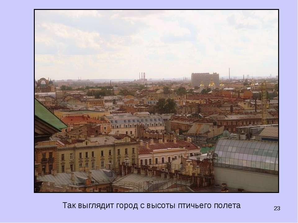 * Так выглядит город с высоты птичьего полета