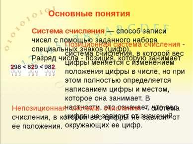 Система счисления — способ записи чисел с помощью заданного набора специальны...