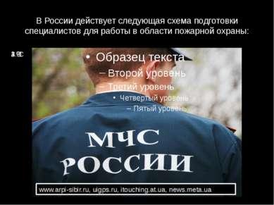 В России действует следующая схема подготовки специалистов для работы в облас...