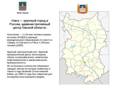 Флаг Омска Омск — крупный город в России, административный центр Омской облас...