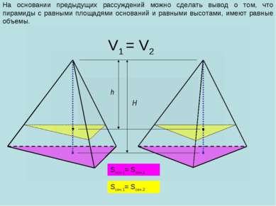 На основании предыдущих рассуждений можно сделать вывод о том, что пирамиды с...