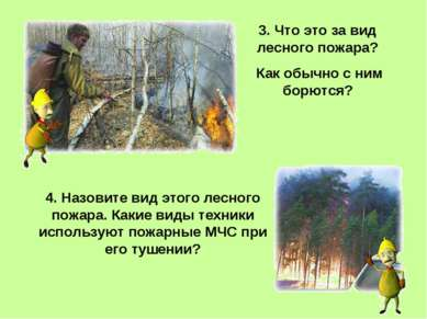 3. Что это за вид лесного пожара? Как обычно с ним борются? 4. Назовите вид э...