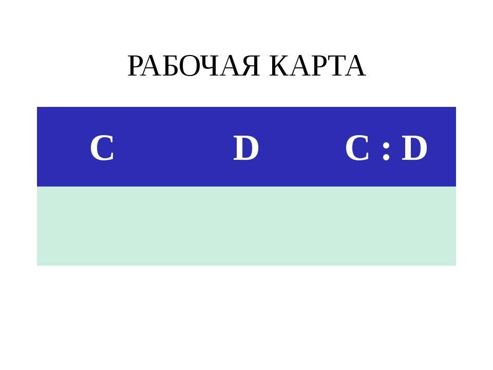 РАБОЧАЯ КАРТА С D C:D