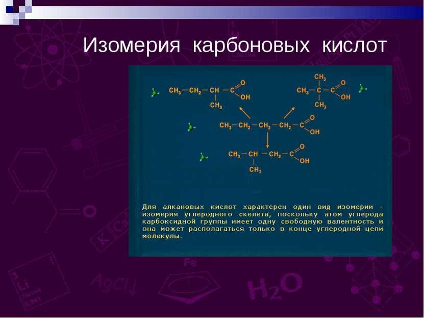 Изомерия карбоновых кислот