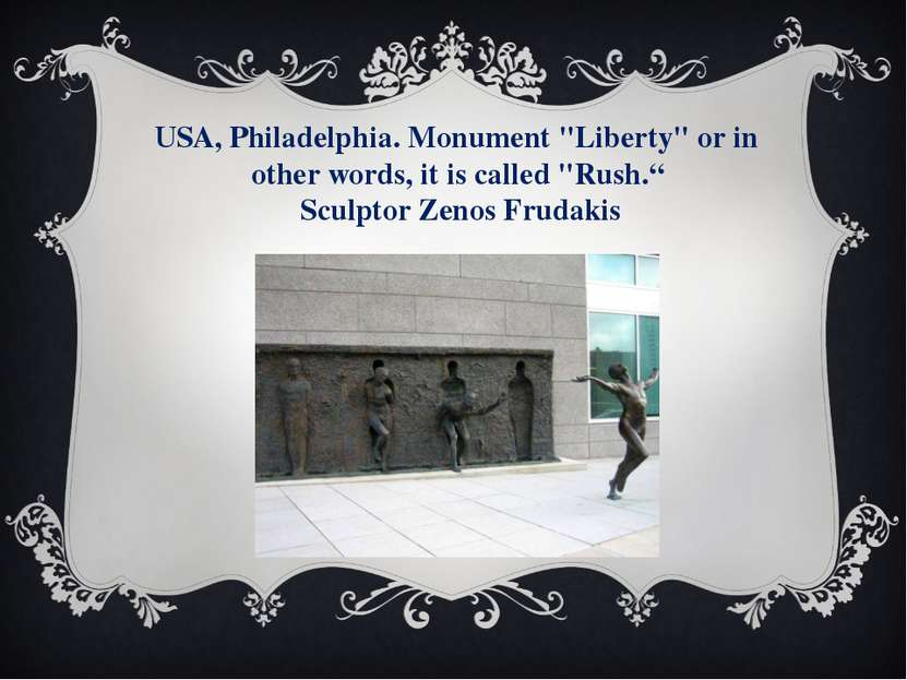 "USA, Philadelphia. Monument ""Liberty"" or in other words, it is called ""Rush.""..."